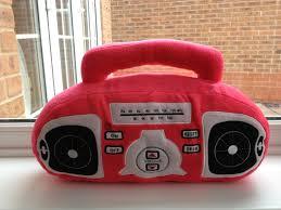 pillow radio. heelys trainers with wheels on, unusual back on a dress, anti bacterial socks, hand grenade inspired bag, memory foam pillow, policeman\u0027s helmet pillow radio b