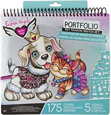 fashion angels pet fashion full size sketch portfolio style may vary
