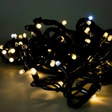 festilight 10m length of 100 indoor outdoor connectable flashing warm white led string lights on black rubber cable