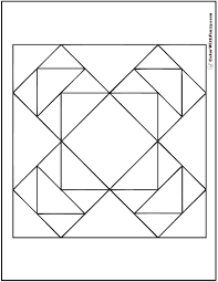 Small Picture Geometric Quilt Coloring Page