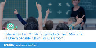 Exhaustive List Of Math Symbols Their Meaning