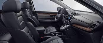 2018 honda cr v gray interior seating side view