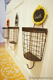 Coat Rack With Baskets DIY Wire Basket Coat Rack Chaotically Creative 27