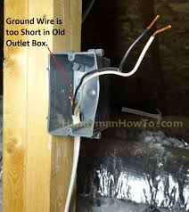 how to wire an attic electrical outlet and light junction box wiring outlet electrical box ground wires cut off inside the box
