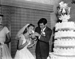 eddie fisher debbie reynolds. Interesting Fisher Singer Eddie Fisher 26 Feeds A Piece Of Wedding Cake To His Bride On Fisher Debbie Reynolds