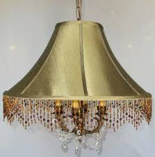 incredible gold silk chandelier shades picture design