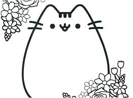 Cute Pusheen Cat Coloring Pages Picture Book The Free Of