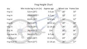 Qr Bike Size Chart Rent Frog 73 Junior Hybrid Bike For 12 14 Year Old In
