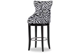 Patterned Bar Stools Mesmerizing Baxton Studio Peace Zebraprint Patterned Upholstered Bar Stool W
