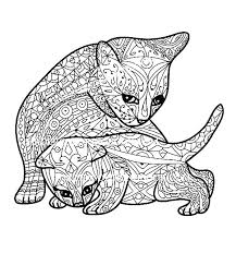 Cute Kittens Coloring Pages Kitten Coloring Page Puppy And Kitten