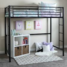 Walker Edison Twin Metal Loft Bed Multiple Colors Walmart