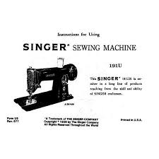 Singer Sewing Machine Instructions