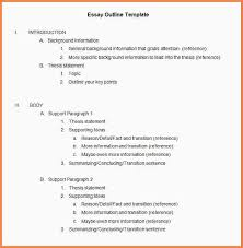 outlining an essay example essay checklist outlining an essay example essay outline template jpg