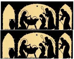 nativity silhouette printable. Modren Silhouette Nativity Silhouette Candle Holder U2013 12 Days Of Christmas Day 3 For Printable I