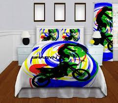 Motocross Bedroom Decor Motocross Comforter Set High Quality Bedding Sets For Boys