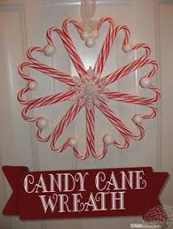 Slim Peppermint Candy Themed Wreath By Wwwsoutherncharmwreaths Candy Cane Wreath Christmas Craft