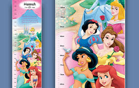 Personalized Princess Growth Chart Personalized Disney Princess Growth Chart