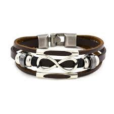 cute multilayer infinity knot bracelet casual fashion leather bracelets for men women newchic