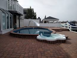inground pools with waterfalls and slides. Semi Inground With Laguna Spa Step \u0026 Slide Pools Waterfalls And Slides