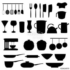 kitchen utensils silhouette vector free. Kitchen Utensils And Tools Silhouette Vector Free T