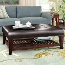 Image Espresso Roselle Coffee Table Wayfair Leather Ottoman With Shelf Wayfair