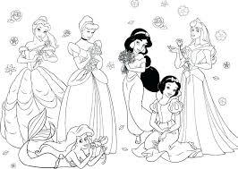 Disney Princess Color Pages Gyerekpalotainfo