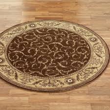 somerset scroll round rug
