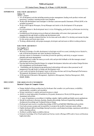 Solutions Architect Resume Solution Architect Resume Samples Velvet Jobs 20