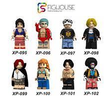 Xếp Hình Minifigures Các Nhân Vật One Piece Vua Hải Tặc - Đồ Chơi Lắp Ráp  non-lego KT1013 [A22]