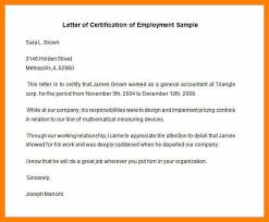 Sample Of Working Certificate Sample Employment Certificate From