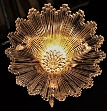 11 of 12 antique art deco snowflake starburst 3 chain chandelier ceiling light fixture