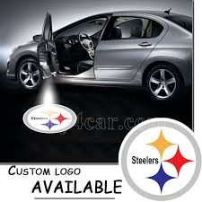welcome logo light ghost shadow laser projector for pittsburgh steelers 5368
