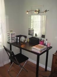diy vanity table ideas. black diy vanity table with minimalist design and folding chair ideas n