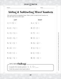 Addition And Subtraction Of Fraction Worksheets Math Adding ...