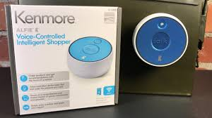 kenmore alfie. kenmore alfie voice-controlled intelligent shopper - unboxing and overview s