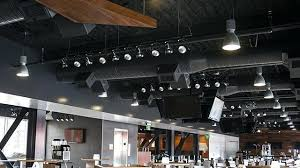 Open ceiling lighting Commercial Open Open Ceilings Design Projects Open Ceiling Acoustics Open Ceiling Design Restaurant Emily Tocco Open Ceilings Design Projects Open Ceiling Acoustics Open Ceiling