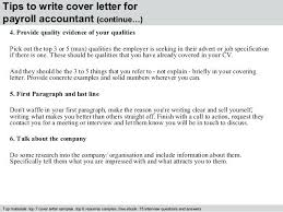 Payroll Accountant Cover Letter 4 Tips To Write For Resume Examples