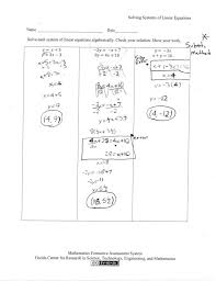 prepossessing solving systems of linear equations students are asked to solve by graphing worksheet lesson 8