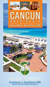 the 2019 cancun anesthesia brochure