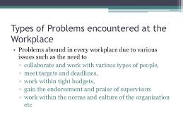 Problem At Work Problem Solving Decision Making At The Workplace