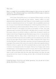 Reflective Paper Example 1 Psychology Docsity