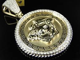 jewelry unlimited custom diamond medusa pendant in 10k gold 2 70ct com