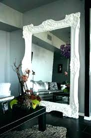 white framed floor mirror mirror white frame big white wall mirror best white framed full length