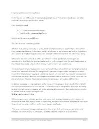 Review Examples For Employees Job Performance Evaluation Sample Review Examples Comments Self