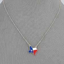 star flag texas pendant necklace