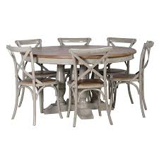 distressed dining table set grey distressed round dining table shabby chic rustic wooden dining table set