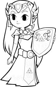 Small Picture Toon Princess Zelda coloring page Free Printable Coloring Pages