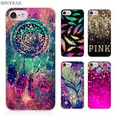 Dream Catcher Case Iphone 7 Plus BINYEAE Dream catcher feather stars Christmas colorful Clear Cell 97
