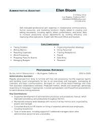 Administrative Assistant Resumes And Cover Letters Sample Executive ...