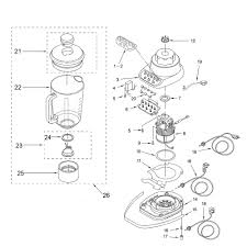 Kitchenaid ksb5 blender diagram parts kitchenaid blender parts
